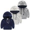 Capuz da camisola do bebê roupas 2015 meninos outono pullover outerwear