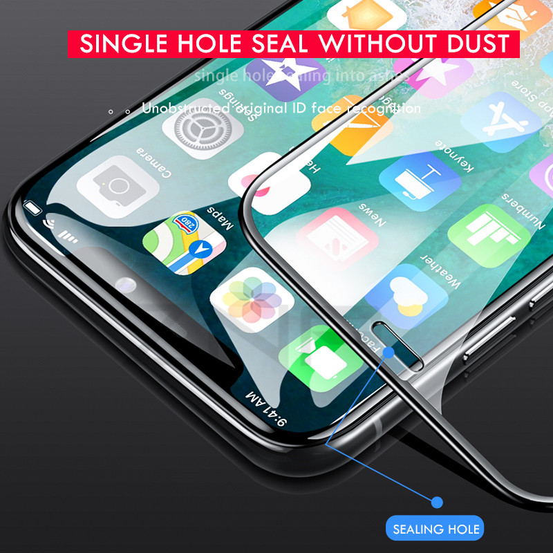 Image 2 - 10D Tempered Glass on the For iPhone X 7 8 6 Plus Screen Protector Full Cover Protective Glass For iPhone 6 6s 7 XR XS Max film-in Phone Screen Protectors from Cellphones & Telecommunications
