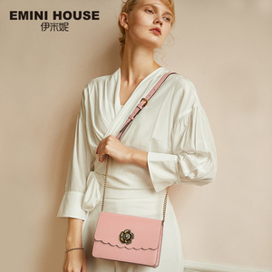 Image 1 - EMINI HOUSE Camellia Crossbody กระเป๋าผู้หญิงกระเป๋าถือหรูผู้หญิงออกแบบกระเป๋าแยกหนังกระเป๋าสะพาย Messenger กระเป๋า