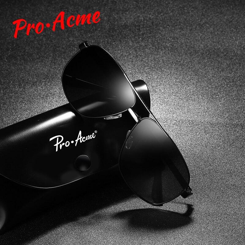 Pro Acme Brand Designer Sunglasses Men Polarized Male Retro Square Cool Sun Glasses for Men Driving Eyewear UV400 PA1181