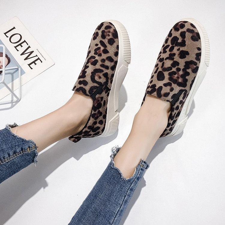 Marrón Mujeres Casuales on Slip Primavera 2019 De K743 Leopardo Otoño Pisos Punta Redonda Planos Estampado Mocasines Las Mujer Zapatos caqui U0pqOwxP