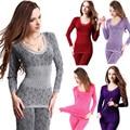 Бесплатная Доставка женщин Зима Теплая лонг джонс Модальные Термобелье Органа Shaper Пижамы Пижамы