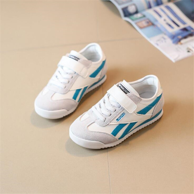100% Genuine Leather children Sneakers 2018 spring Kids fashion Breathable casual shoes for boys girls running sports shoes children s shoes boys and girls ultralight casual sports shoes children fashion sneakers mesh fabric breathable travel shoes