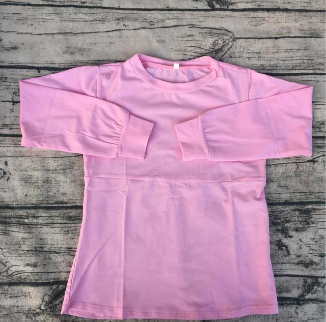 bb30be330a65 OEM Design blank baby girl t shirt pink Cotton customized t shirts Infant Toddler  shirt long sleeve children boutique clothing