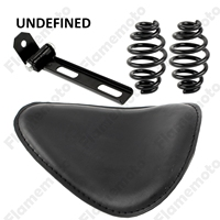3 Motorcycle Accessories Black Leather Bracket Barrel Spring Solo Seat Kit For Harley Sportster XS650 Honda