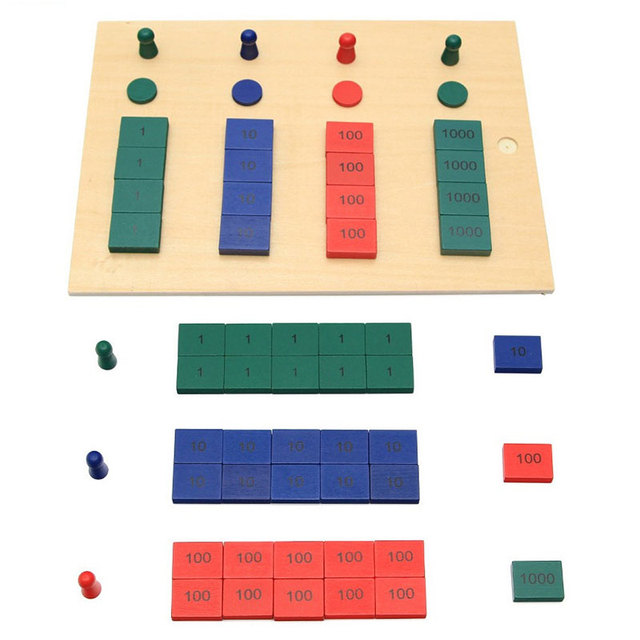 Newest Upgraded Montessori Materials Stamp Game Geometric Blocks Solids Children Educational Wooden Baby Toys