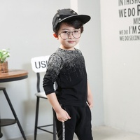 New Arrival 2017 Autumn Winter Baby Boys Pullover Tops Babies Boy Fashion Long Sleeve T Shirt