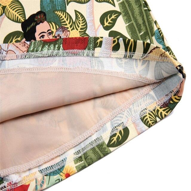 2019 Summer Women Skirt Fashion Bodycon Mini Skirt Female Character Print Skirts Faldas Mujer Jupe Femme Womens Clothing 4