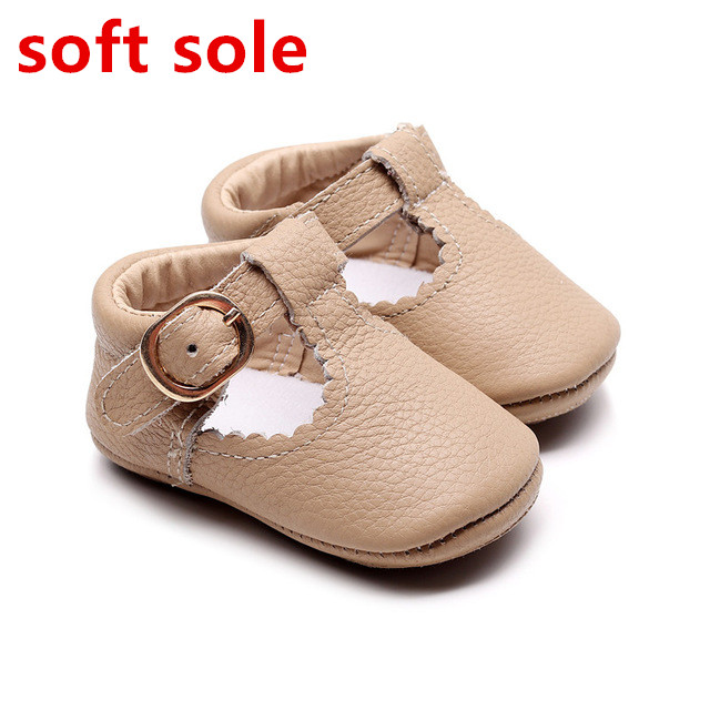 54d4afcce18 2019 new Genuine Leather Baby shoes Leopard print Girls Soft sole ...