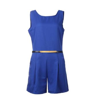 Casual Solid Playsuit Overalls For Women Rompers Ladies Summer Backless Bodycon Combines Female Party Overalls Women's Clothing 6