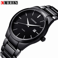 Curren 2017 Top Brand Business Men Male Luxury Watch Casual Full Steel Calendar Wristwatches Quartz Watches