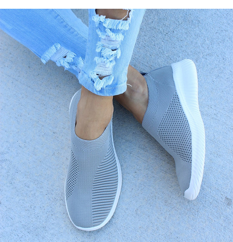 Plus Size 43 Sneakers Women Stretch Fabric Socks Shoes Woman Fashion Vulcanize Shoes Slip On Tenis Feminino Women Casual Shoes