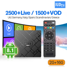 HK1 Mini IPTV Italia Spain Sweden UK Germany Android 8.1 RK3229 2+16G IP TV Full HD Live IUDTV 1 Year Subscription Receiver