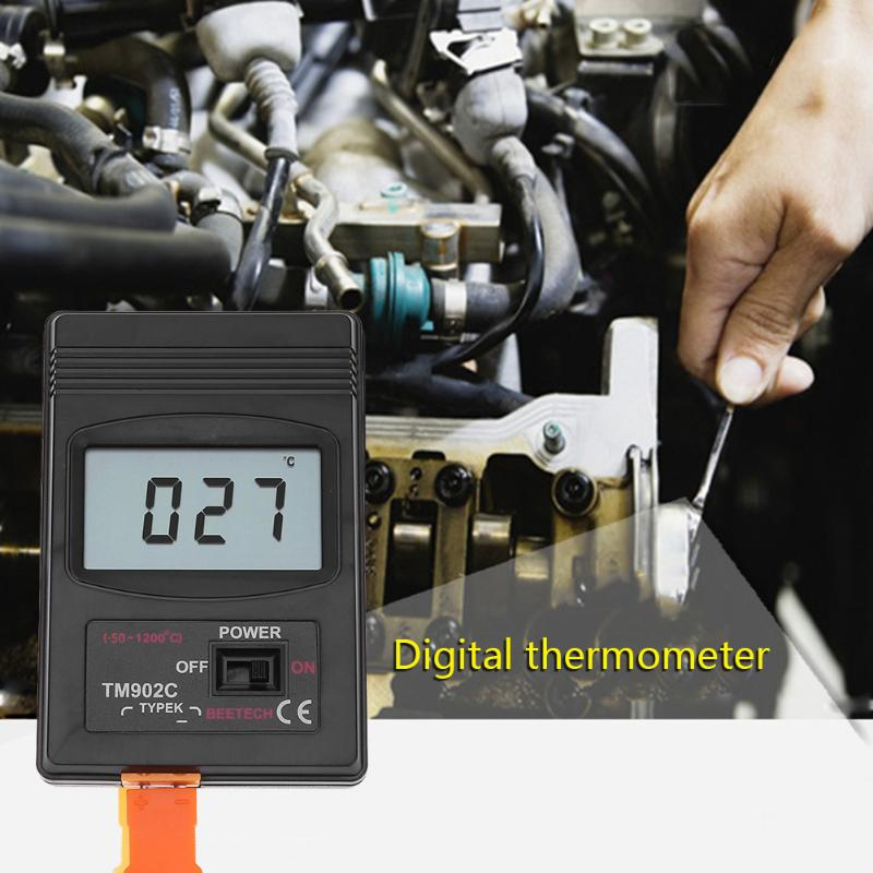 TM902C Digital K Type Thermometer Sensor Temperature Meter Thermocouple Needle Probe Detector 0-400 degree meter стоимость