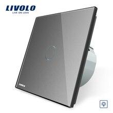 Livolo ЕС Стандартный затемнитель настенный выключатель, AC 220~ 250 В, кристалл стекло панель, 1 Gang путь диммер, VL-C701D-1/2/3/5