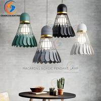 Badminton chandelier Minimalist modern Scandinavian restaurant lamp dining room lamp Creative personality bar study bedroom lamp