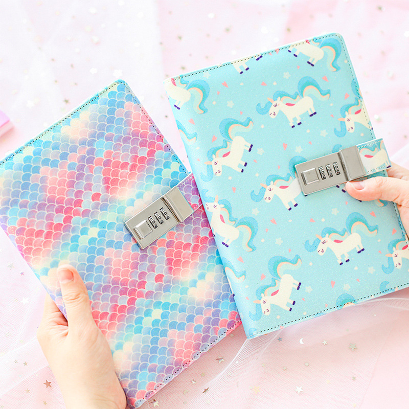 Korea Cute Notebook with Lock Creative Diary with Lock for Girls 2019 Personal D