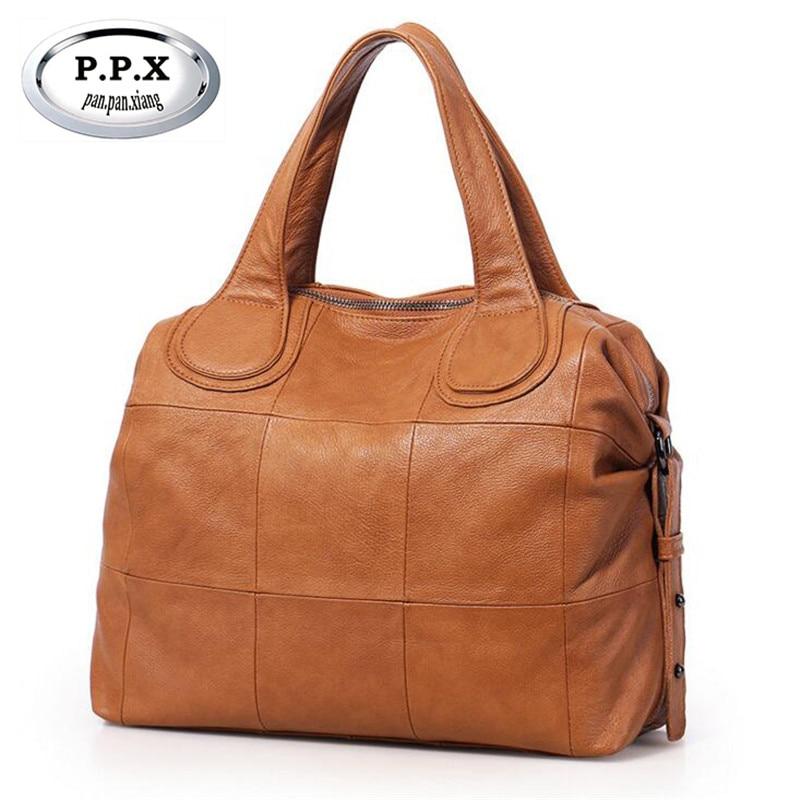 цены на Casual Large Genuine Leather Bag Women Big Shoulder Bags Zipper Ladies Bag Bolsas Femininas High Quality Crossbody Bag M577 в интернет-магазинах