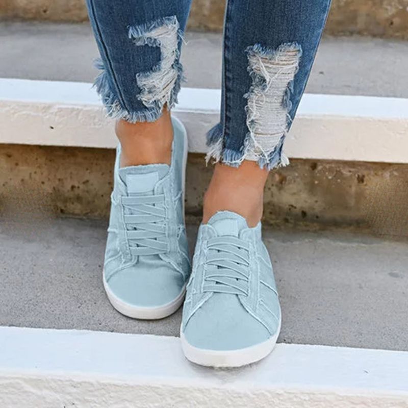 Puimentiua Classic Summer Flat Canvas Shoes For Women Casual Vulcanize Shoes Sneakers Girls Low-cut Lace-up Trainer Femme Ladies(China)