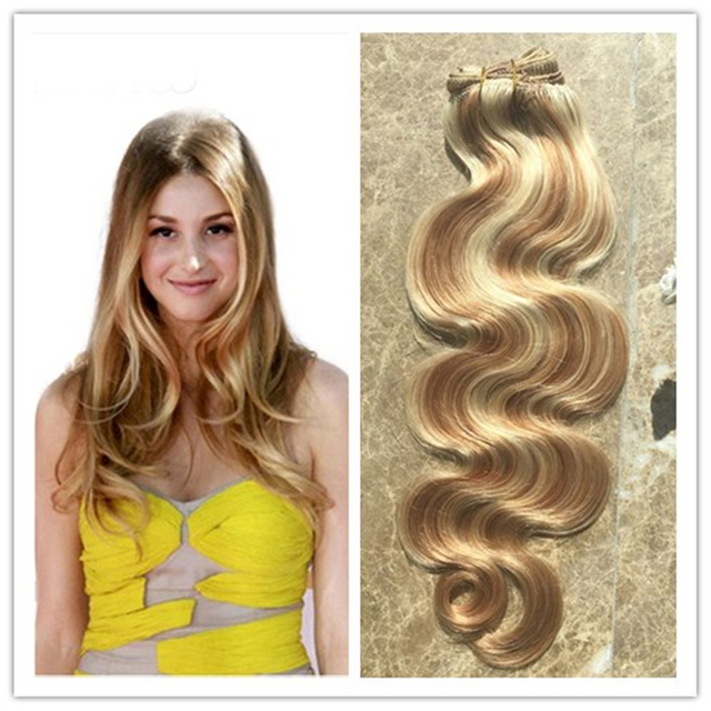 Full Shine Clip In Real Human Hair Extensions Piano Color 27613