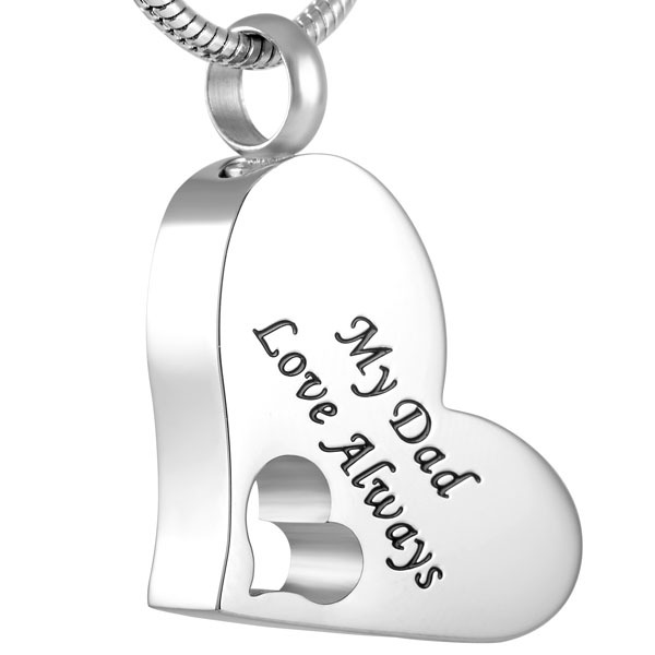 My Dad Love Always Memorial Necklace