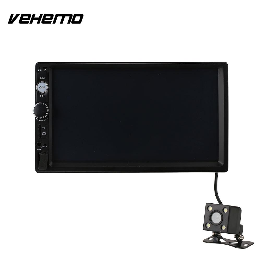 Vehemo 7 Inch HD Screen Car Stereo 2 DIN MP5 USB/AUX/FM with Reversing Camera 7 hd 2din car stereo bluetooth mp5 player gps navigation support tf usb aux fm radio rearview camera fm radio usb tf aux