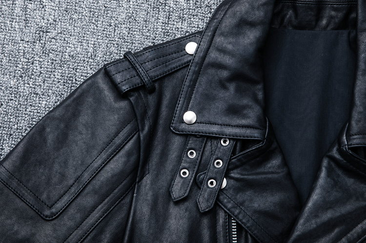 HTB15n.plaQoBKNjSZJnq6yw9VXaC MAPLESTEED 100% Natural Sheepskin Tanned Leather Jacket Black Soft Men's Motocycle Jackets Motor Clothing Biker Coat Autumn M111
