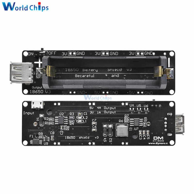 ESP32 ESP32S For Wemos Raspberry Pi 18650 Battery Shield V3 Micro USB Port  Type-A USB 0 5A For Arduino Wemos Diy Kit