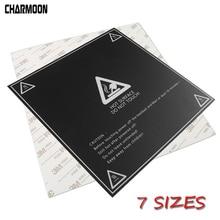 Papel de calor impressora 3d calor cama adesivo, coordenado impresso cama quente superfície adesivo preto para impressora plataforma