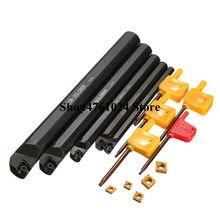 5 piezas CCMT060204 + 5 piezas 6mm 8mm 10mm 12mm 16mm SCLCR06 torno de inflexión de la titular de la inserto de barra perforadora para S06K/S08K/S10K/S12M/S16Q-SCLCR06