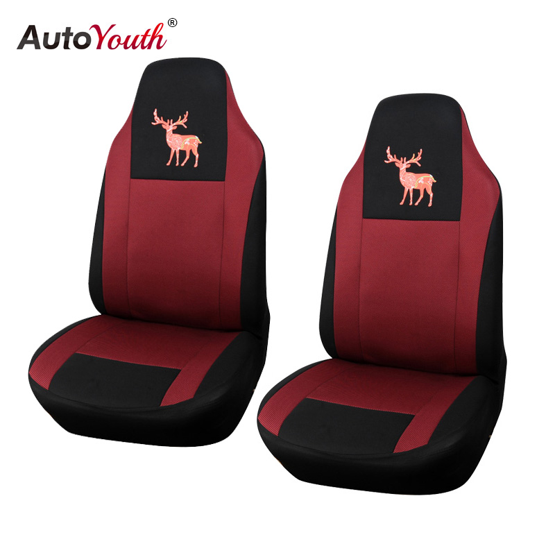 AUTOYOUTH New Christmas Reindeer Pattern Car Seat Cover Universal Fit All Car Seats Interior Accessories Seat Covers Car-Styling covers for citroen c4 car seat cover interior accessories sandwich cover seats for citroen black car styling seats protector