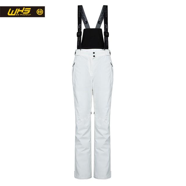 WHS Новый женские лыжные Штаны теплые сноуборд брюки женские водонепроницаемые зимние брюки женские дышащие спортивные штаны белого цвета для женщины горнолыжные брюки