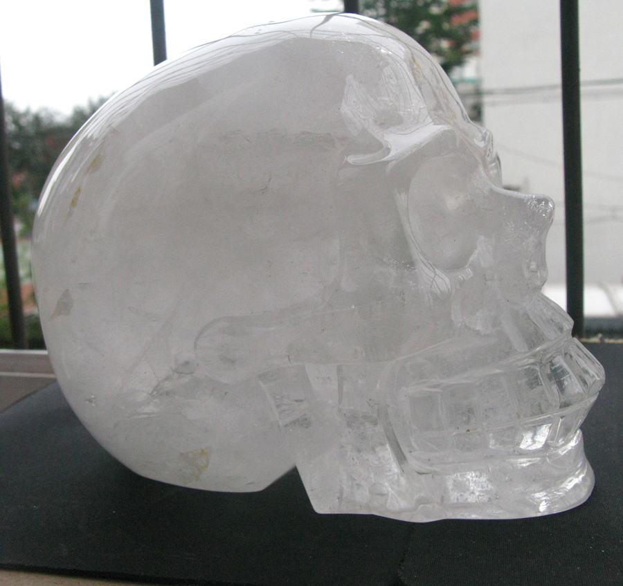 $GANG Larger Natural Quartz Crystal Carved Skeleton,Healing SKUll Statue Weight 4730G