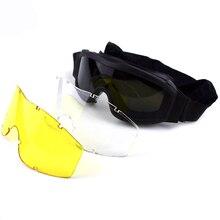 a133779ff28618 Zwart Groen Tan Tactical Bril Militaire Leger Eyewear Airsoft Paintball  Goggles Outdoor Sport Motorfiets