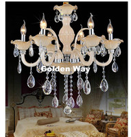 Free Shipping Crystal Chandelier White Lighting European Style Glass Chandeliers Light For Living Dining Room Restaurant