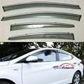 Puerta Side Window Viseras Deflector de Viento Lluvia Dom Guardias Inoxidable ajuste Escudo 4 UNIDS Para Hyundai Elantra 2011 2012 2013 2014 2015