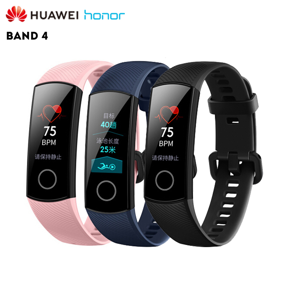 Authentic Huawei Honor Band four Sensible Bracelet Waterproof Ip68 Bluetooth Wristband Coronary heart Price Monitor Pedometer Sleep Monitor Watch