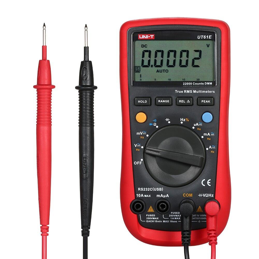 UT61E multimètre numérique ESR mètre vrai RMS 22000 affichage compte AC/DC voltmètre ampèremètre Diode testeur d'induction électromagnétique