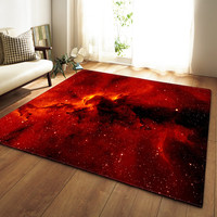 Dream Galaxy Space Stars 3D Carpets for Living Room Bedroom Area Rugs Tea Table Mats Soft Flannel Parlor Large Size Decor Carpet