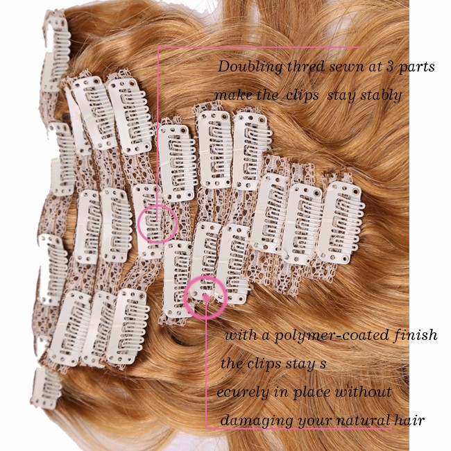 2016 Full Head Clip In Human Hair Extensions Brazilian Straight Hair Clip In Remy Hair Extensions 100% Real Human Hair Thick Set (2)
