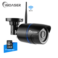 WOASER 1 0MP WIFI IP Camera Waterproof HD 1280 720P Network Wifi Camera Day Nignt Vision