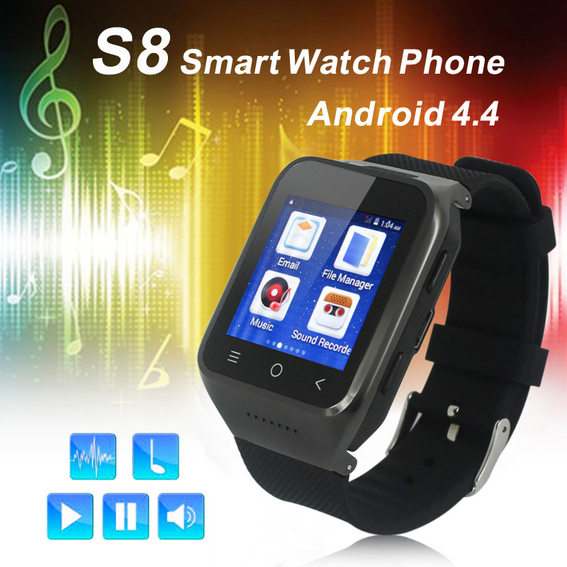 Android 5.1 MK6580 Smart Watch ZGPAX S8 Wristwatch Mobile Phones Smartwatch Supports GSM 3G WCDMA Bluetooth 4.0 Wifi Camera цена