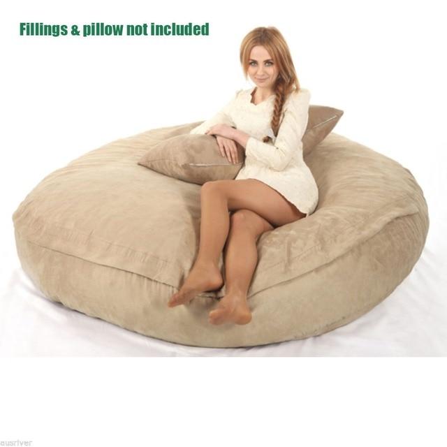 Grande cadeira do saco de feijão para Adultos beanbag COBREM apenas fornecer, Não incluído recheios e travesseiro