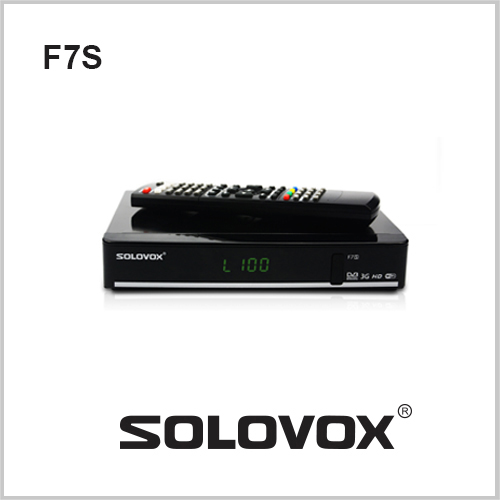 1PC Free Shipping Original Solovox F7S Satellite Receiver Support 2 USB biss Key Youporn Ccamd Newcam