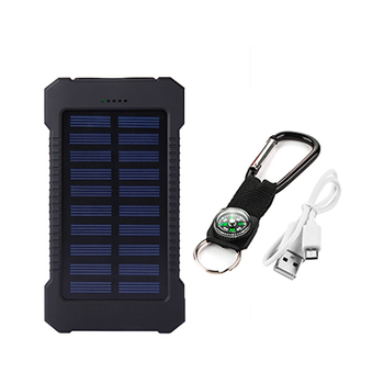 Top Sell Solar Power Bank Waterproof 20000mAh Solar Charger 2 USB Ports External Battery Charger Phone Poverbank with LED Light 11