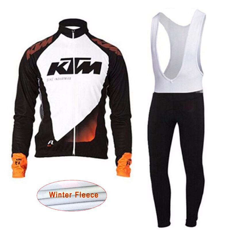 2017 New KTM font b Men s b font Cycling shirt bib pants set cycling font