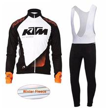 2017 New KTM Men's Cycling shirt bib pants set cycling clothing long sleeve clothes winter polar racing bicycle