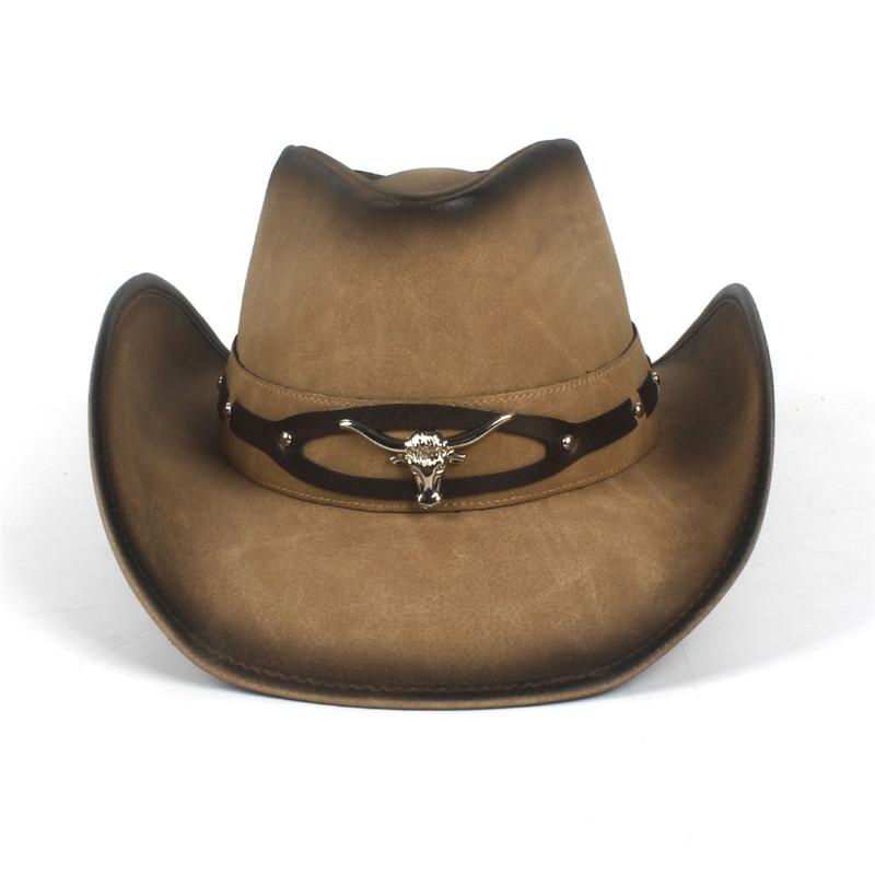 Cowboy Hats Women Men Western Cowboy Hat For Dad Gentleman Lady Leather Sombrero Hombre Jazz Caps