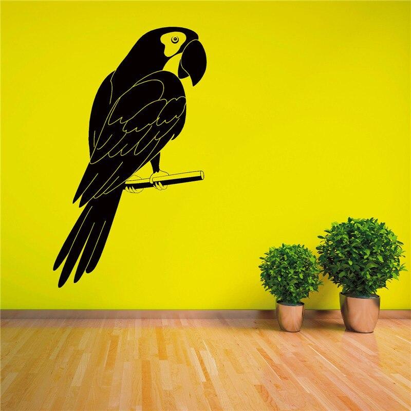 G406 PARROT MACAW TROPICAL BIRD Vinyl wall art sticker decal Family ...
