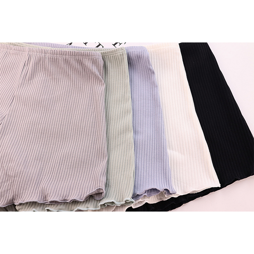 6pcs Anti Emptied Bottom Pants Cotton Stripe Flat Angle Soft Breathable Comfortable Mid Waist Safety Shorts Pants Girl Intimates in Safety Short Pants from Underwear Sleepwears